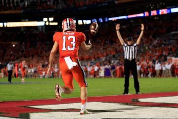 Receiver #13 Hunter Renfrow (Clemson Tigers) begann als walk-on Spieler bei den Tigers.
