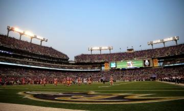 Das M&T Bank Stadium in Baltimore, Maryland