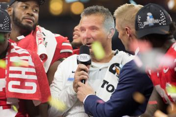 Ohio State Head Coach Urban Meyer gewann 2018 die Big Ten Meisterschaft und den Rose Bowl.