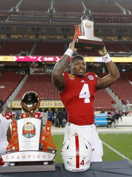 Tommy Armstrong Jr. ist der offensive MVP des Foster Farms Bowl.