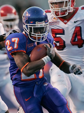 Jeremy Avery rushte 2009 schon �ber 1000 Yards f�r die Broncos