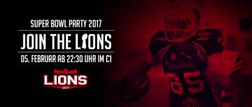 Flyer New Yorker Lions Super Bowl Party 2017.