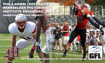 Phil Lanieri, Div. III All- American Defensive Back