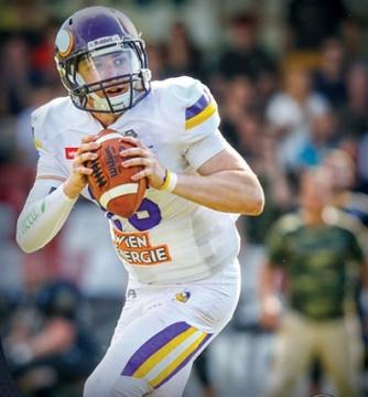 Mercenaries Neuzugang Alex Thury im Dress der Vienna Vikings