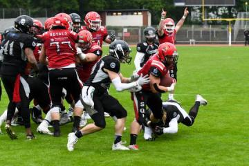 TD durch RB Gennadiy Adams (Nr, 21, Potsdam Royals)