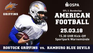 Flyer Rostock Griffins vs. Hamburg Blue Devils.