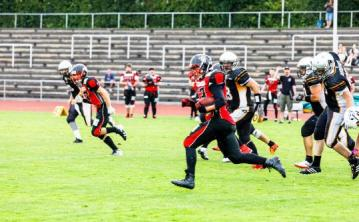 Tübingen Red Knights bringen Highlanders zu Fall.