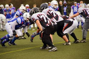 Die Fighting Miners und Koblenz Red Knights beim Scrimmage