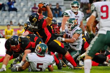 Touchdown f�r Deutschland durch RB Jerome Morris (#31 Germany).