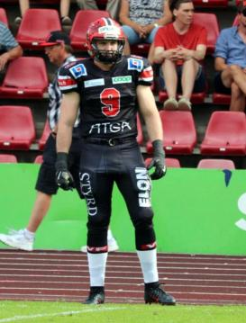James King im Dress der Carlstad Crusaders