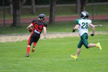 Touchdown durch Weinviertel Spartans #83 WR Georg Gangl