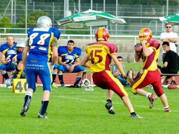 Interception durch den Warrior Thomas Knobel