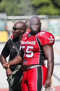 DL Mamadou Sy im Trikot der New Yorker Lions.