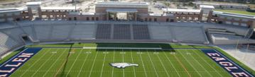 Das Eagles Stadium der HS Allen, Texas.