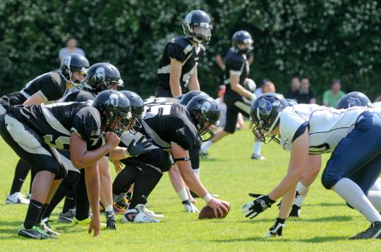 Line of Scrimmage beim Spiel Berlin Rebels vs. Hamburg Blue Devils