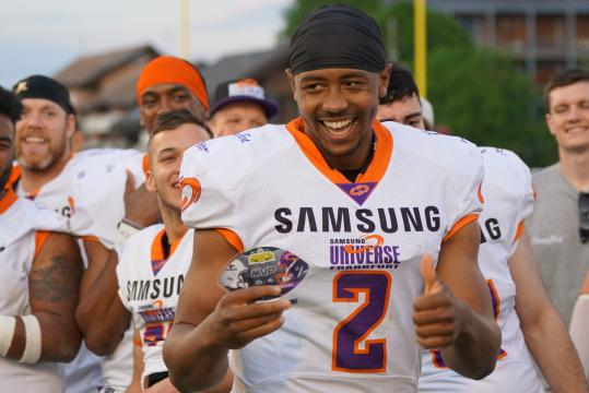 MVP of the game Frankfurt Universe QB Marcus McDade
