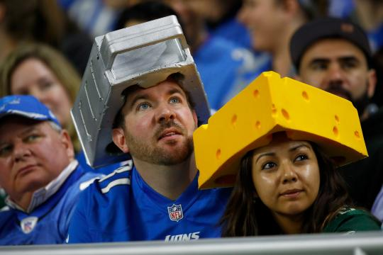 Detroit Lions und Green Bay Packers fans