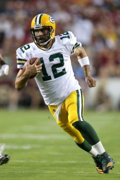Quarterback Aaron Rodgers #12 (Green Bay...