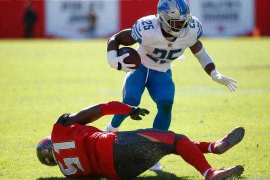 Running Back Theo Riddick #25 (Detroit...