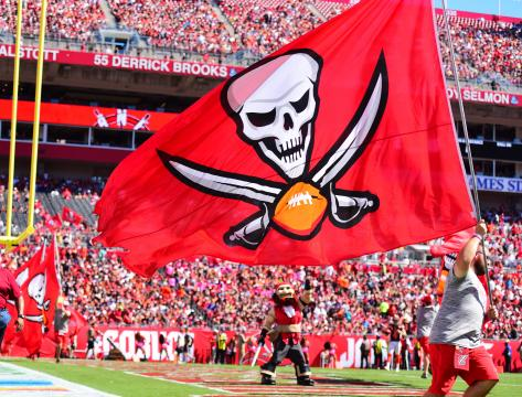 The Tampa Bay Buccaneers flag