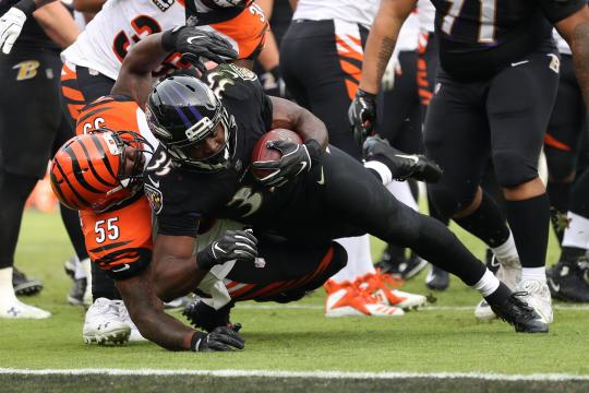 Running Back Gus Edwards #35 (Baltimore...