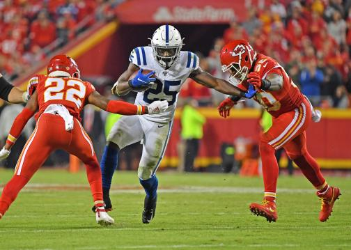 Running Back Marlon Mack #25 (Indianapolis...