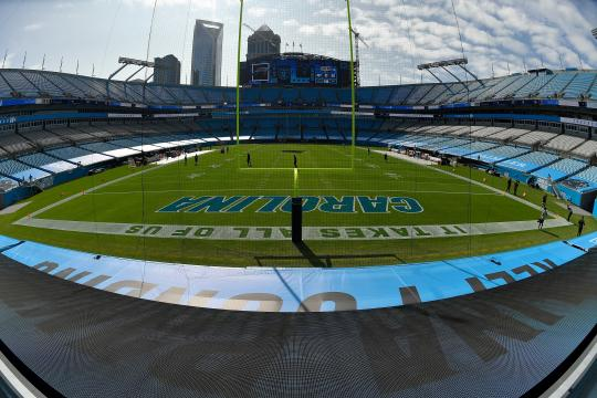 Bank of America Stadium in Charlotte, North Carolina.